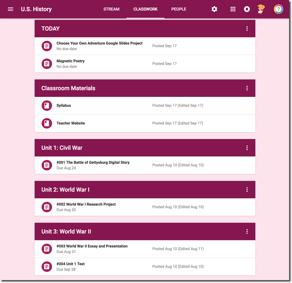 How To Create A Class Template In Google Classroom Shake Up Learning