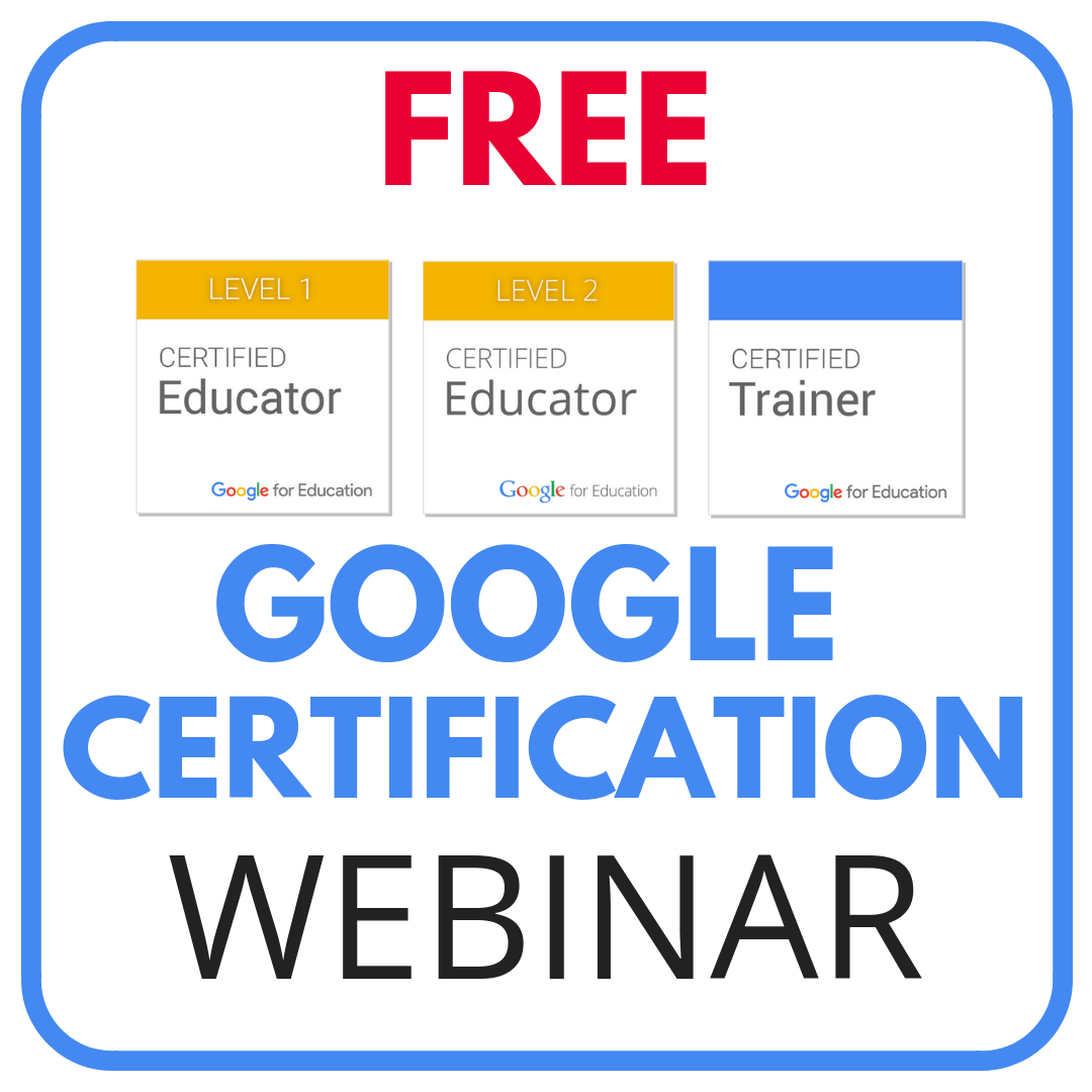 FREE Google Certification Webinar