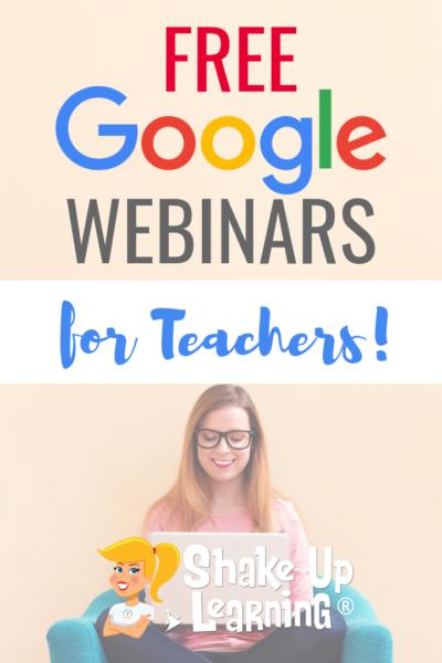 FREE Google Webinars for Teachers