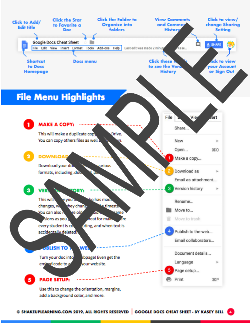 Google Docs Cheat Sheet