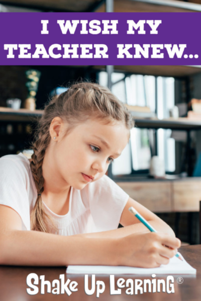 Things I Wish My Teacher Knew… - SULS007