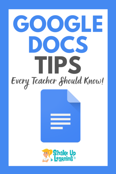 10 Google Docs Tips Every Teacher Should Know