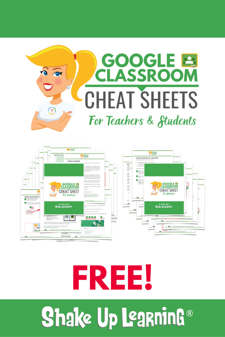 The Google Classroom Cheat Sheets for Teachers and Students!