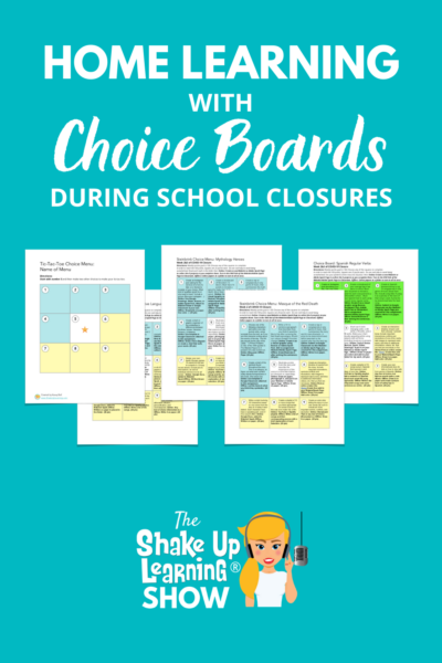 Home Learning with Choice Boards During School Closures