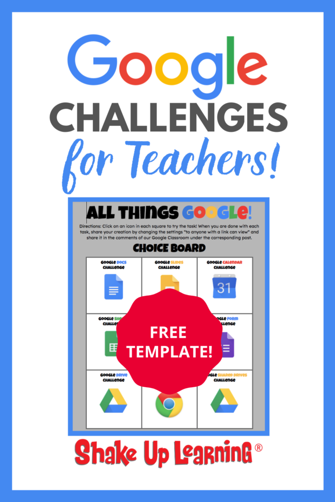 Google Challenges for Teachers (FREE Template)