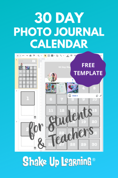 30 Day Photo Journal Calendar (FREE Template)