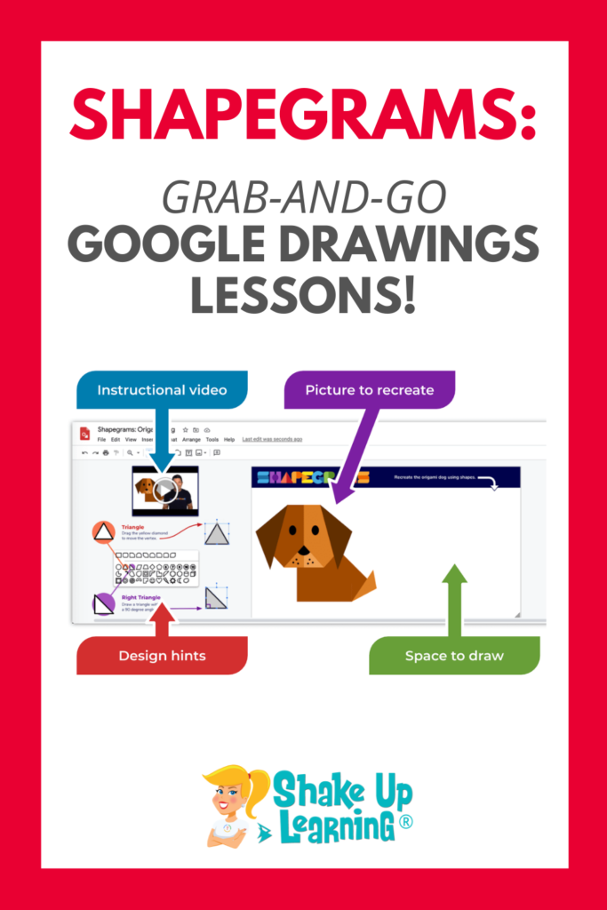 Shapegrams: Grab-and-Go Google Drawings Lessons