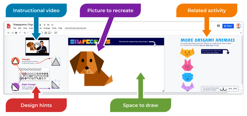 Shake Up Learning with Shapegrams and Google Drawings