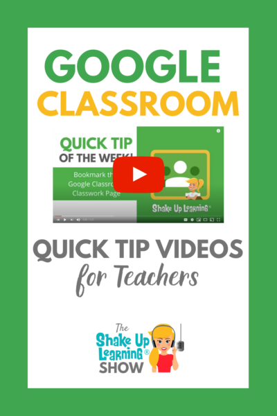 Google Classroom Quick Tip Videos for Teachers
