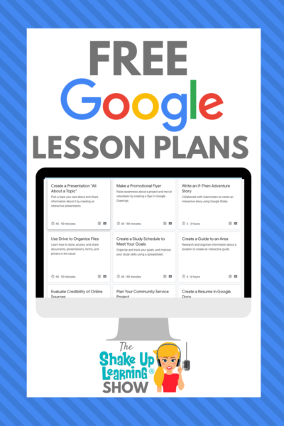 FREE Google Lesson Plans for Teachers and Students - SULS087