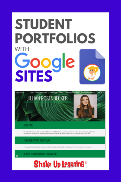 Student Portfolios with Google Sites