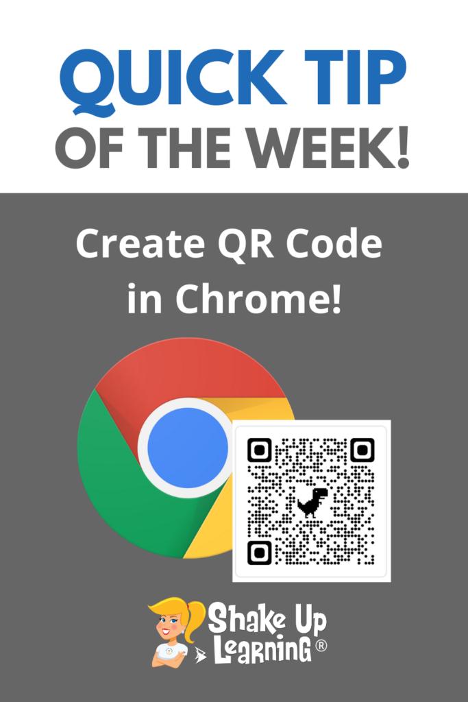 Quick Tip: Create QR Code in Chrome