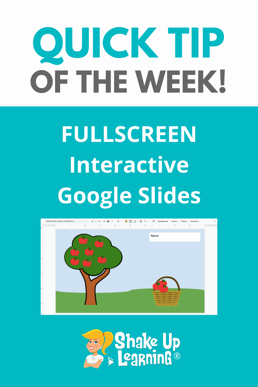 Quick Tip: Fullscreen Interactive Google Slides