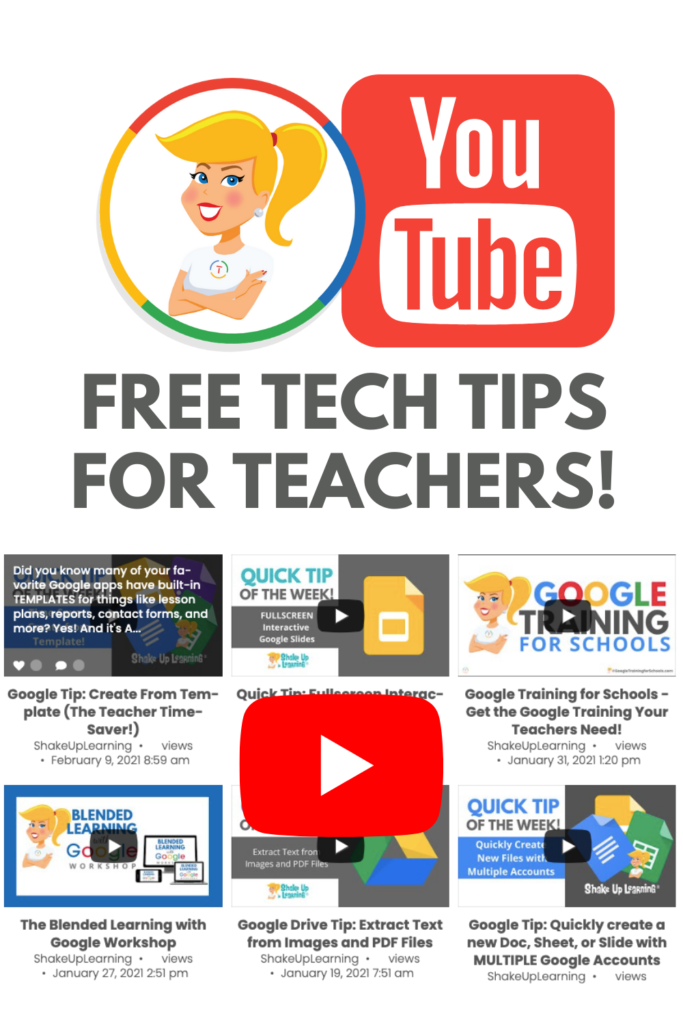 Shake Up Learning YouTube Videos