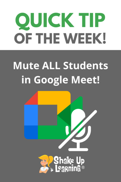 How to Mute ALL Students in Google Meet