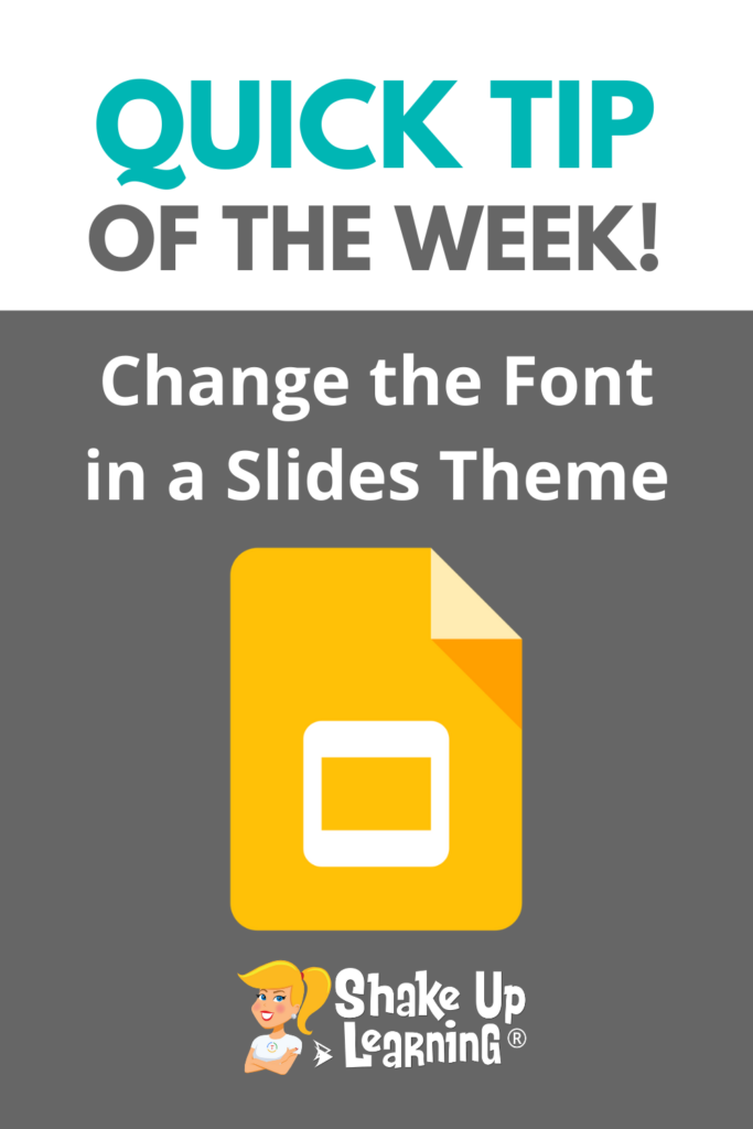 How to Change the Font in a Google Slides Theme