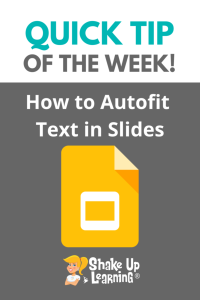 How to Autofit Text in Google Slides