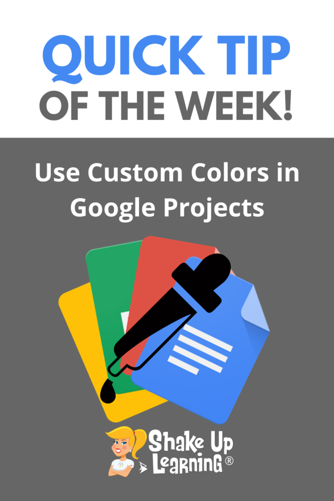Use Custom Colors in Google Projects! (Docs, Slides, Sheets, Drawings)