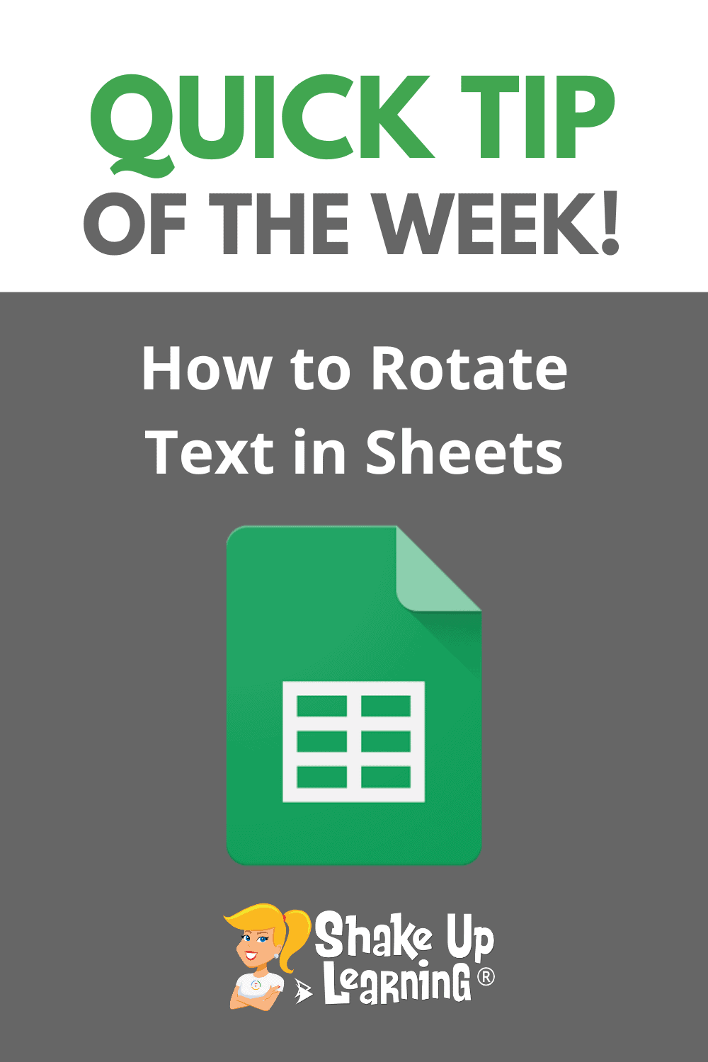 How to Rotate Text in Google Sheets (Grade Book Style!)
