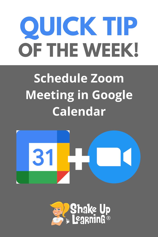 How to Schedule Zoom Meetings in Google Calendar