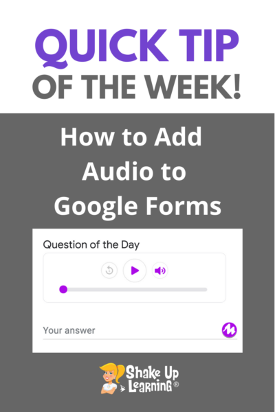 How to Add Audio to Google Forms with Mote