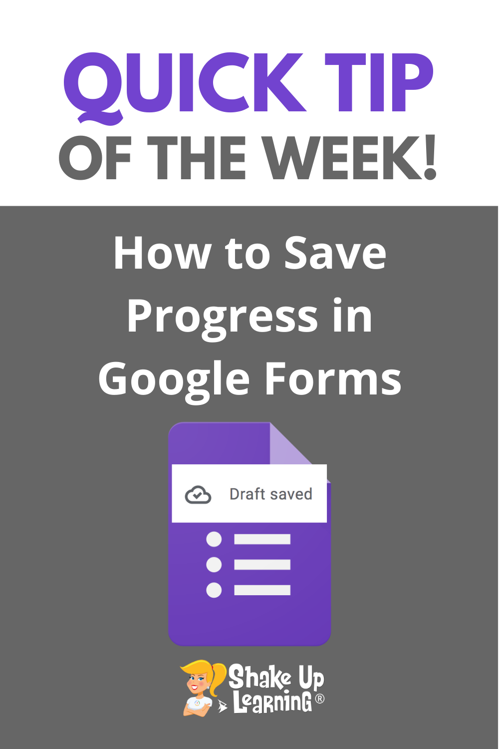 How to Save Progress in Google Forms!