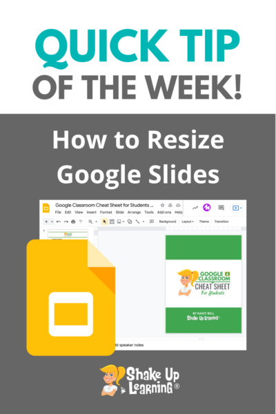 How to Resize Google Slides for Creation Projects, Templates, and More!