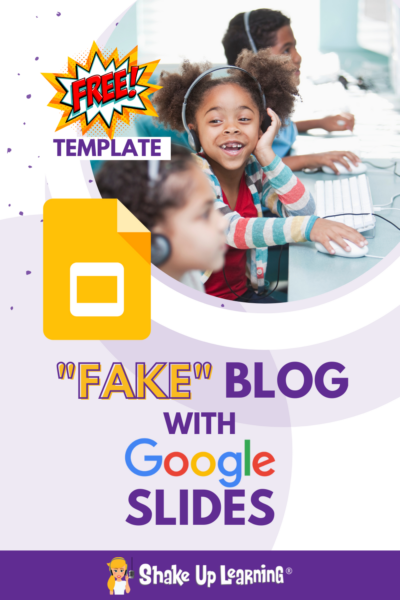"""How to """"Fake"""" Blogging in the Classroom (FREE Template)"""